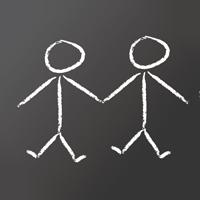 Deux bonhommes dessinés