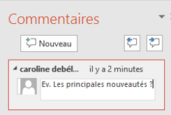 Zone de commentaires PowerPoint