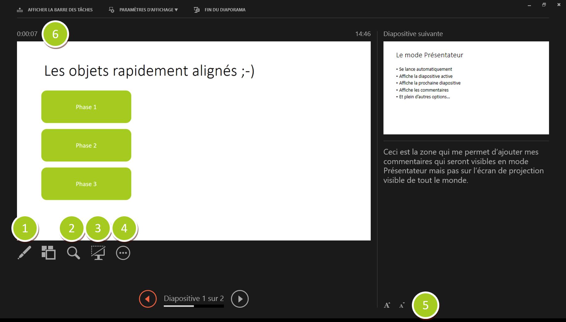 Mode d'affichage Présentateur dans PowerPoint